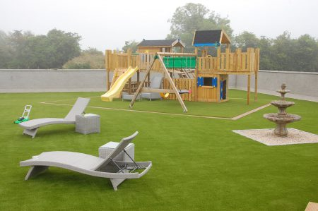 The ideal low maintenance family garden transformed by the Artificial Grass Company.