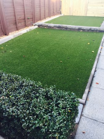 Waterford Artificial Grass has transformed this back garden into a bright, low maintenance area.
