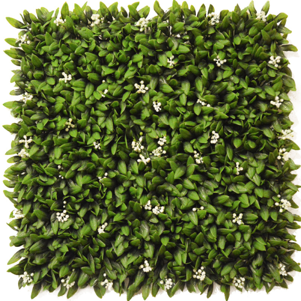 Floral Artificial Hedging Panel 50cm x 50cm